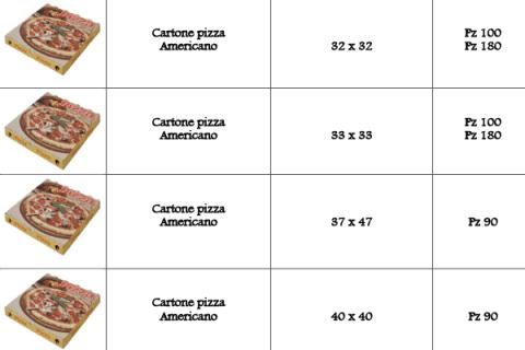 cartoni per pizza