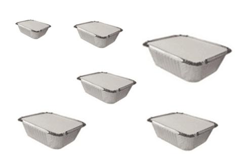 vaschette alluminio con tappo