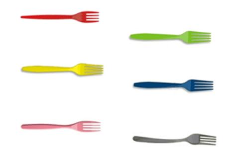 posate forchette colorate