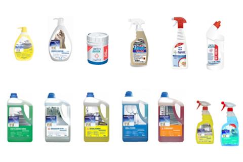 detergenti multiuso e disinfettanti professionali