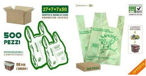 shopper compostabile