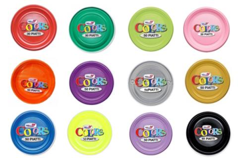 piatti plastica colorati