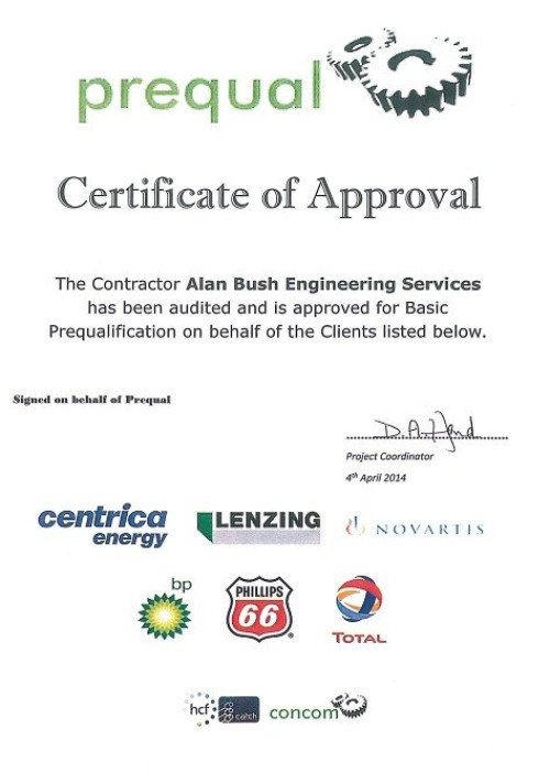 Pre Qualification Certificate