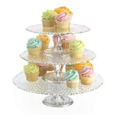 Glass 3 tier cupcake stand