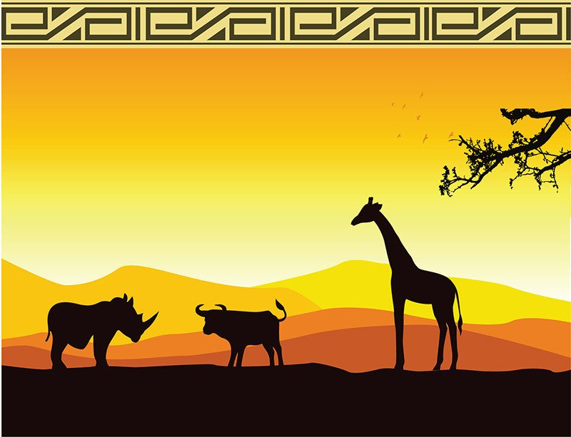 African Safari Party backdrop