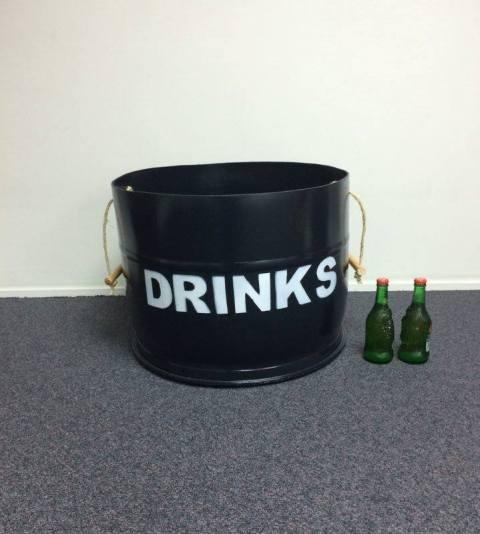Drinks bin black with handles