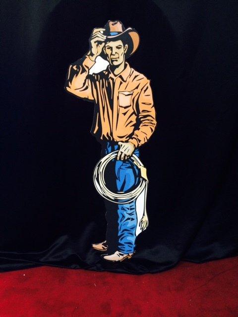 Prop Western Cowboy Man