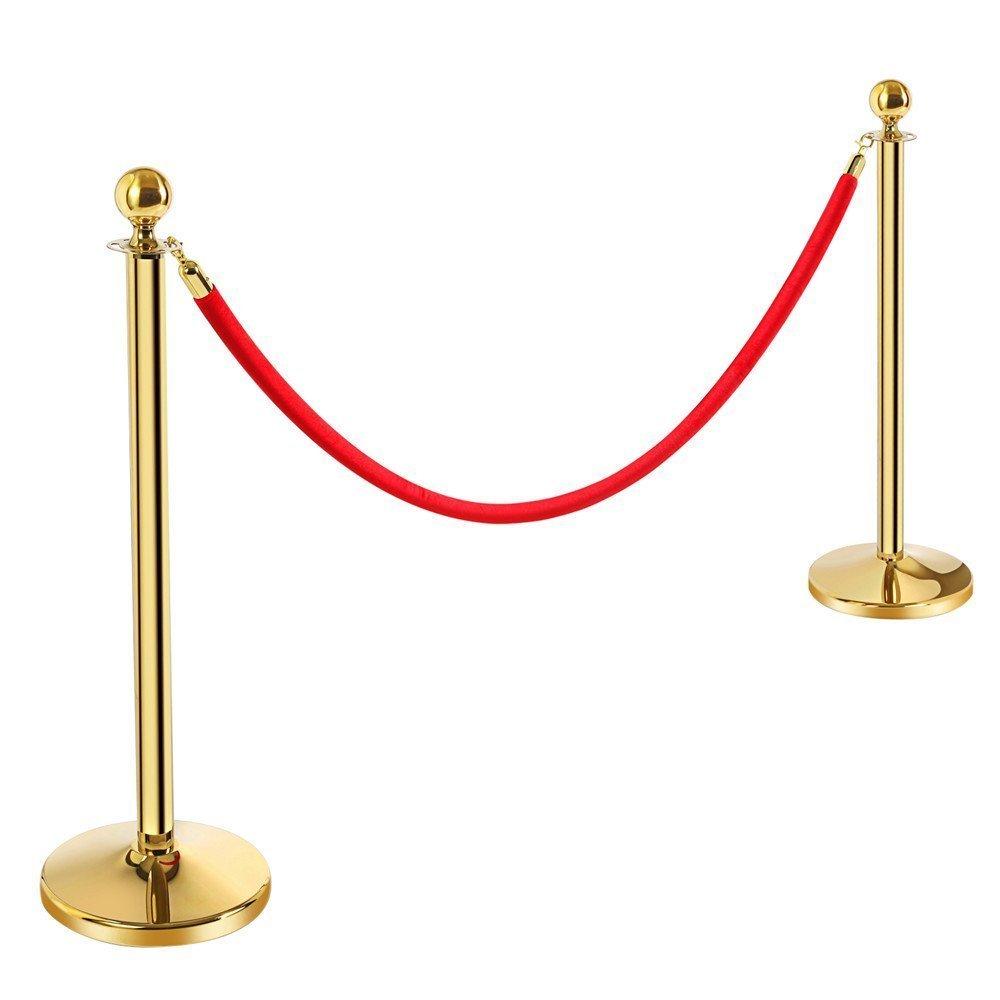 Gold  stanchion poles