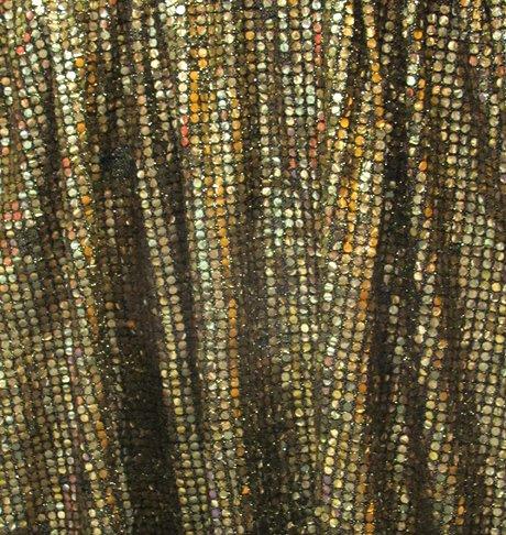 Gold sequin wall drape