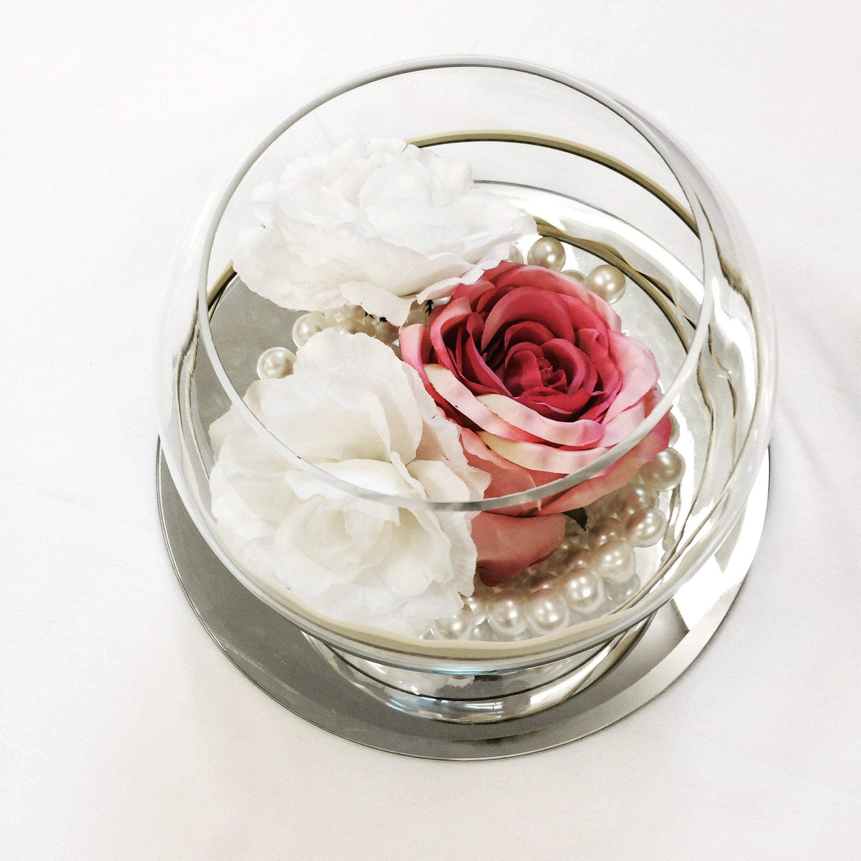 Rose and pearl fish bowl