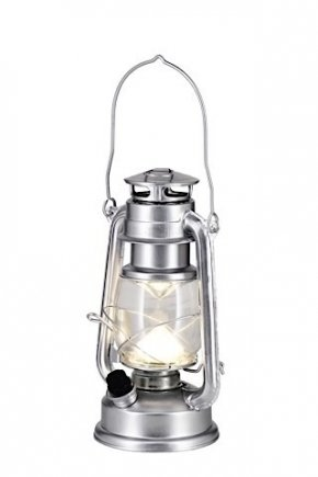 Lantern with battery operated LED light