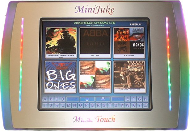 Mini touch juke box