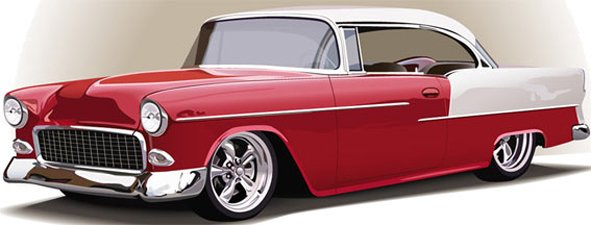 Prop 50s Chevy Car
