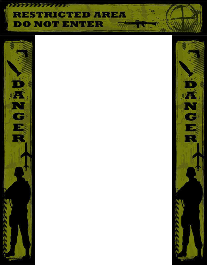 Army Military Party backdrops