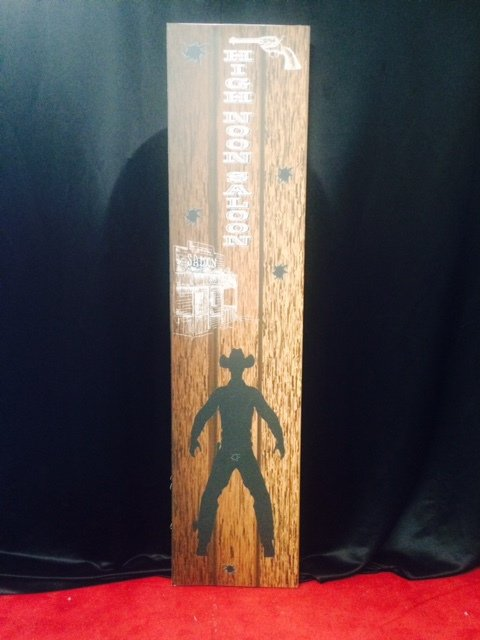 Prop Western tall sign high noon