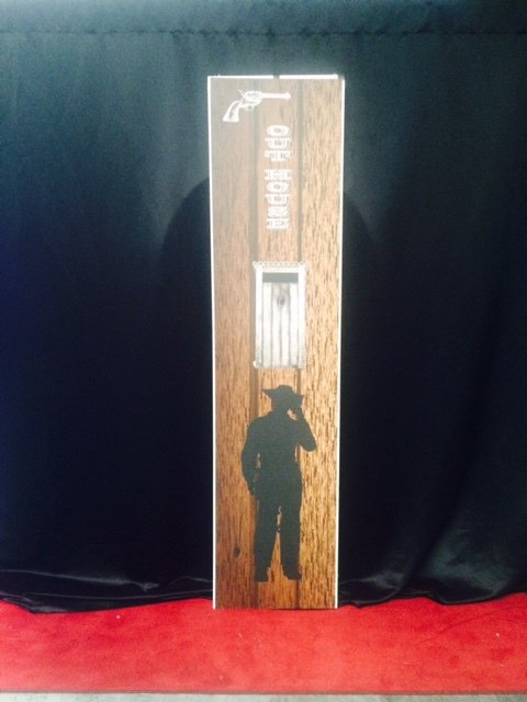 Prop Western tall sign outhouse