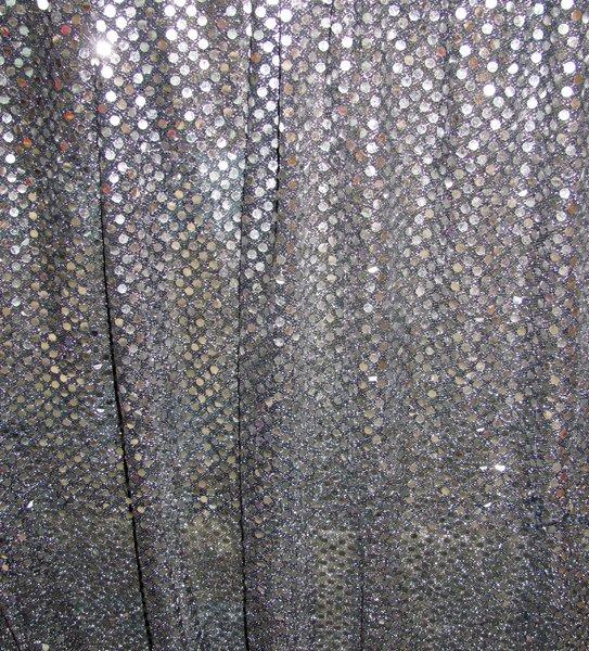 Silver sequin wall drape