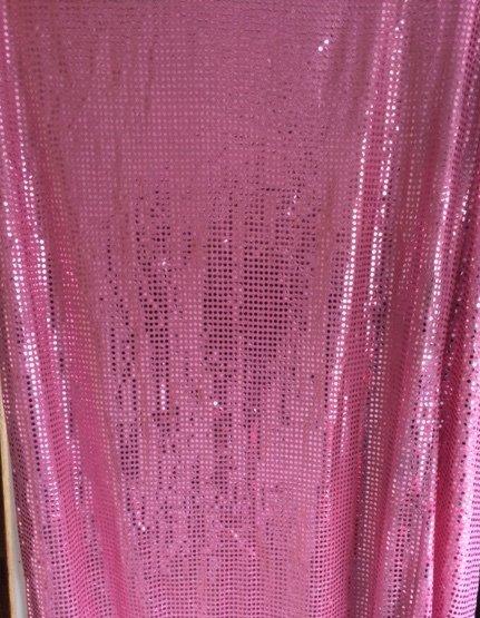 Pink sequin wall drape