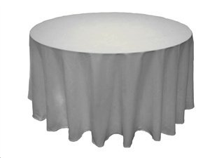 Round white table cloth