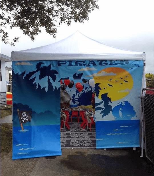 Pirate Entrance backdrop
