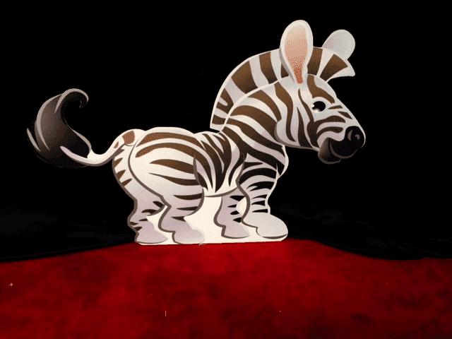 Jungle Zebra prop