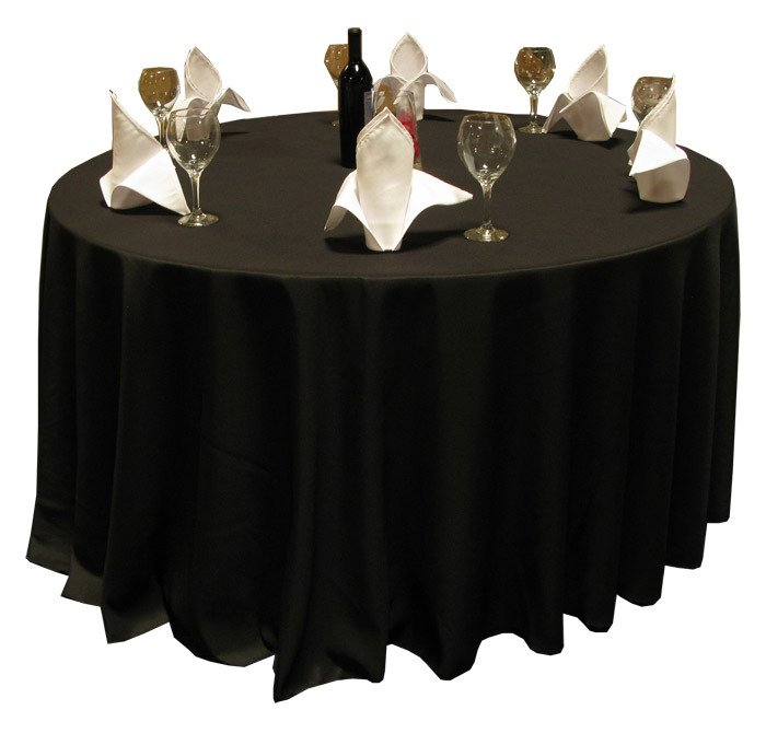 Round Black table cloth