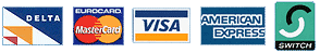 DELTA VISA MASTERCARD logos