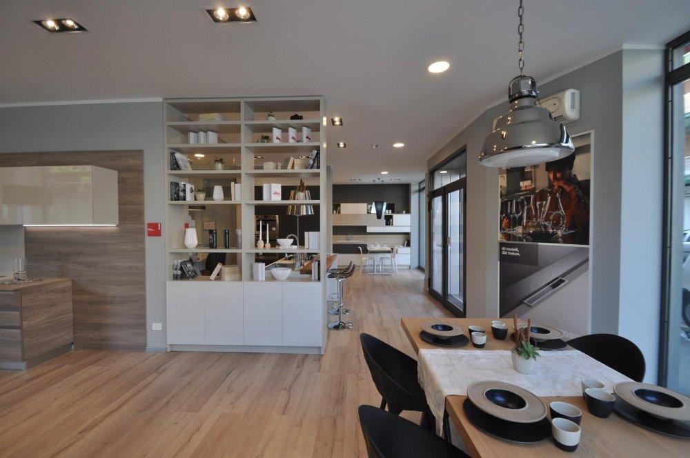 zona living e cucina a vista