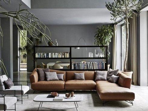 zona living con divano grande ad elle
