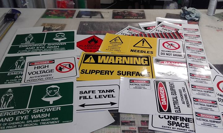 Custom safety signs and stickers