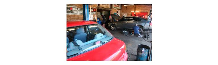 stop master brake service work area