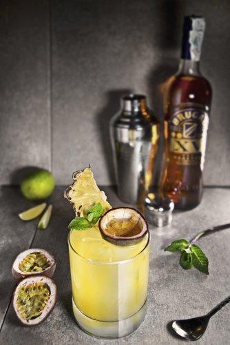 cocktail analcolico al frutto della passione e lime