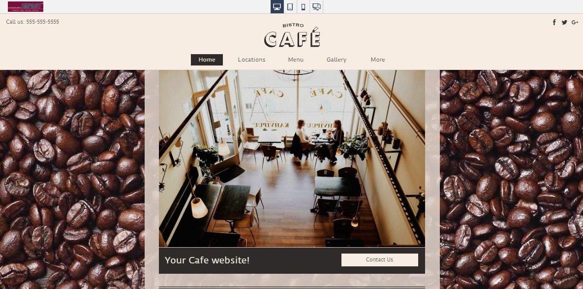 Cafe Responsive Website Sample