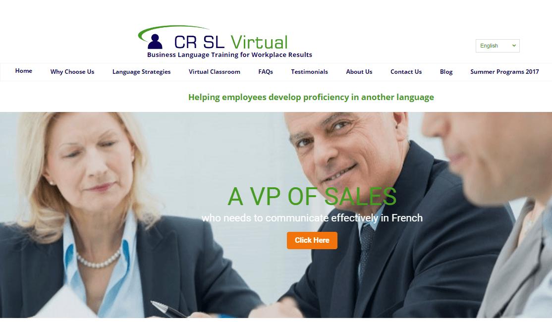 Language Training SEO Optimized Responsive Website Creation