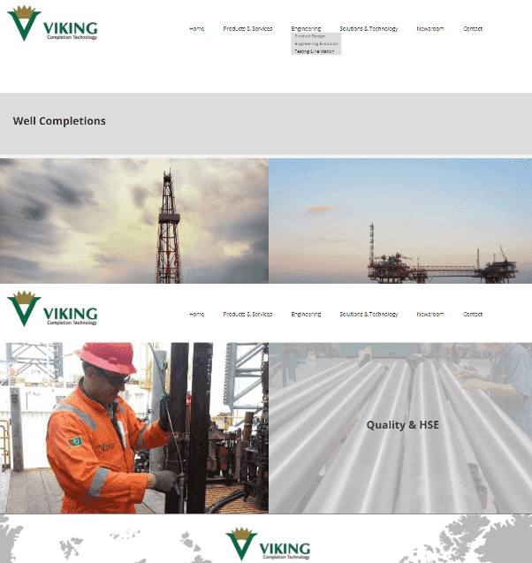 Oil & Gas Responsive Website Creation