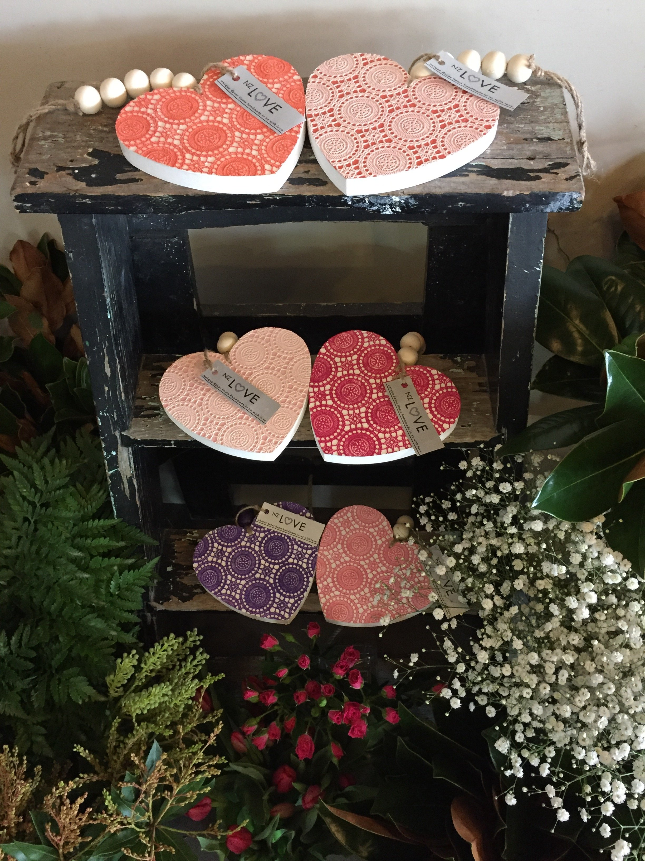 Heart shapped gift boxes