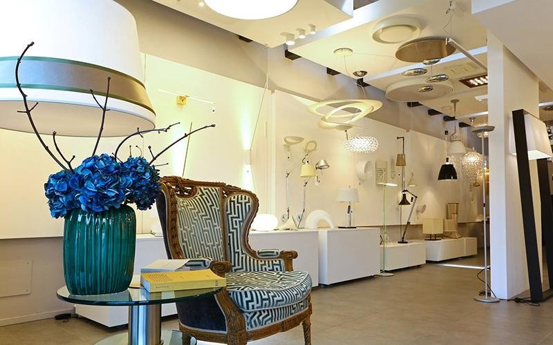 Showroom illuminazione di design