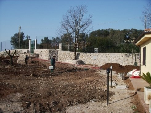 preparazione terreno per giardino