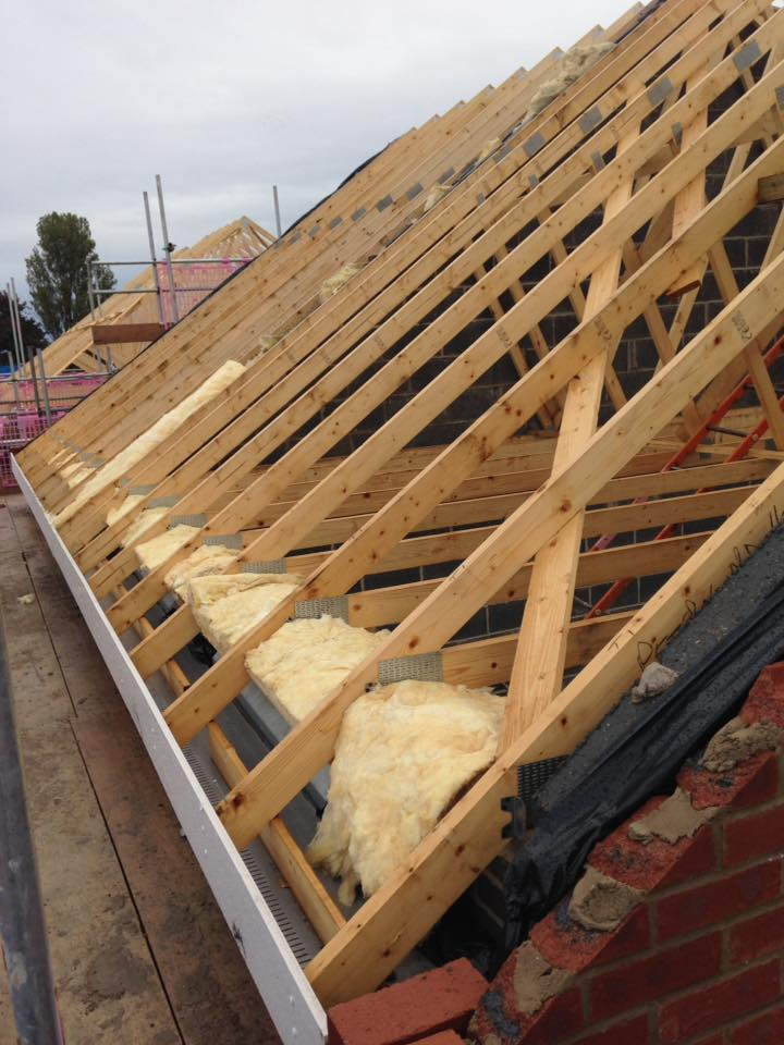 preparation for roof installation