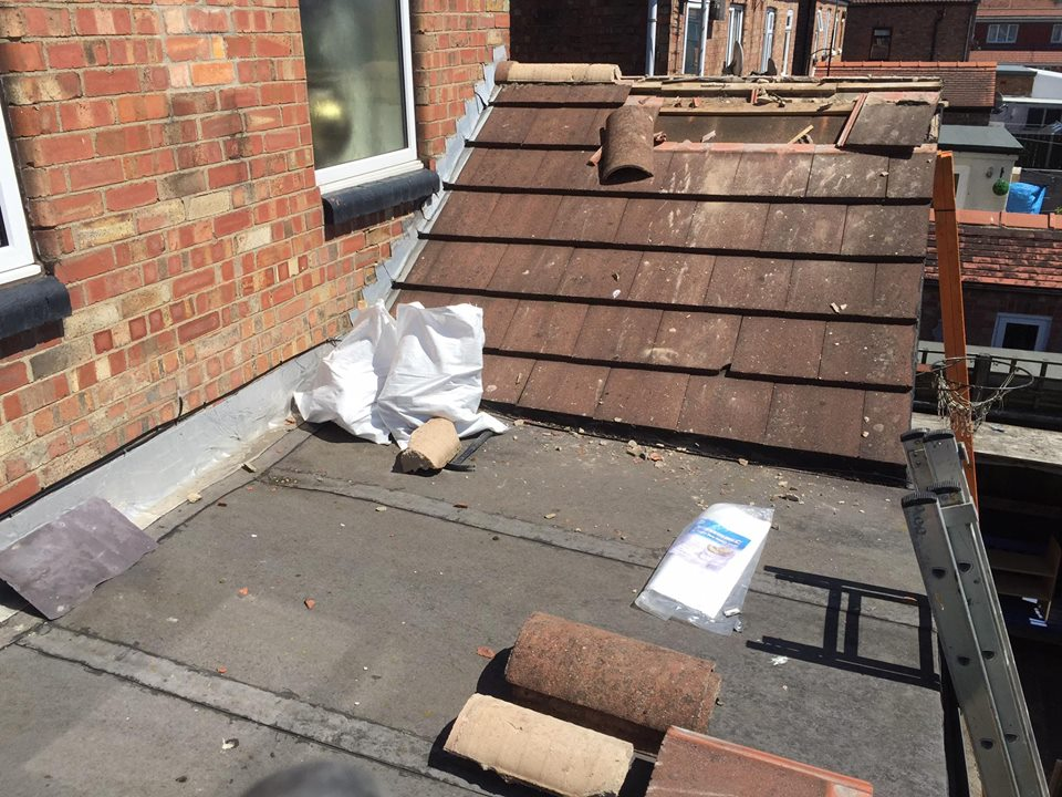 old tile roof for replacement