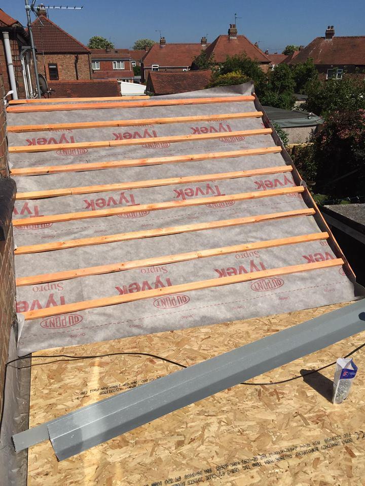 roof installation area