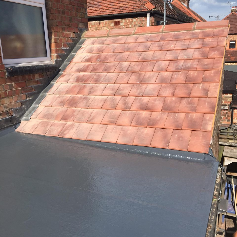 tile roof before installation