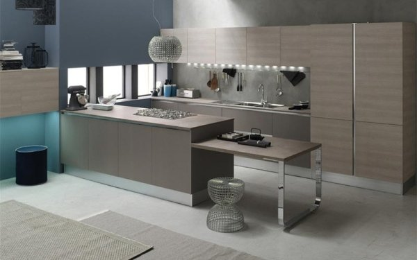 Cucine a vista menciassi arredamenti la spezia - Cucina color tortora ...