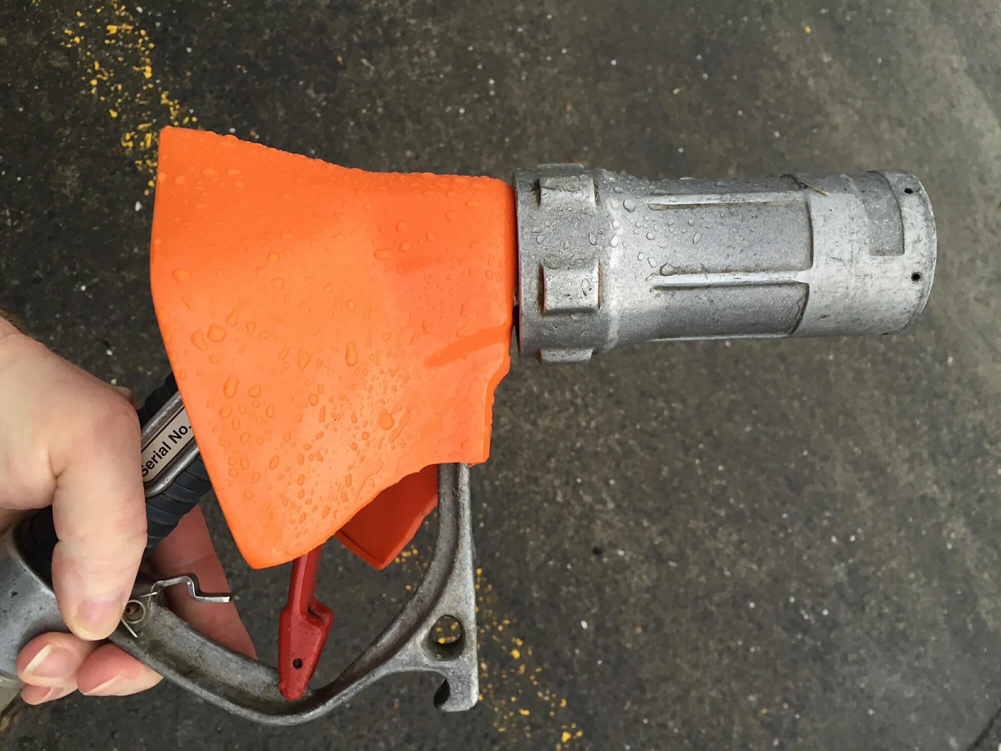 Car filling in petrol