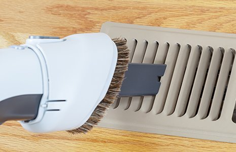 Vacuum cleaning vent in High Point after air duct has been cleaned
