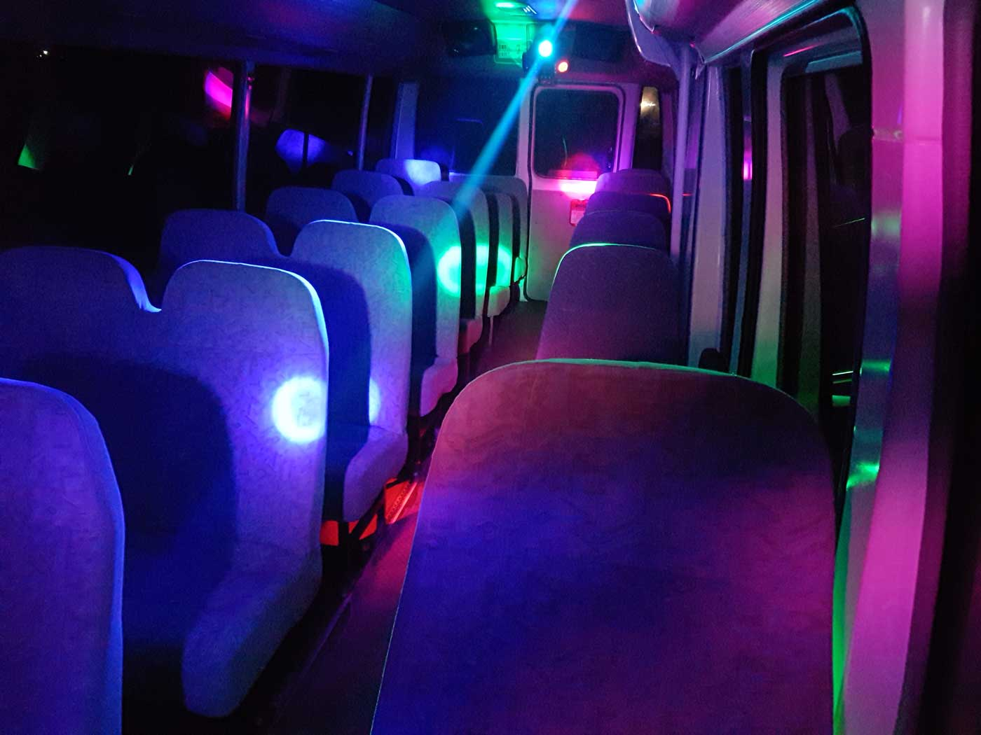 small party bus interior