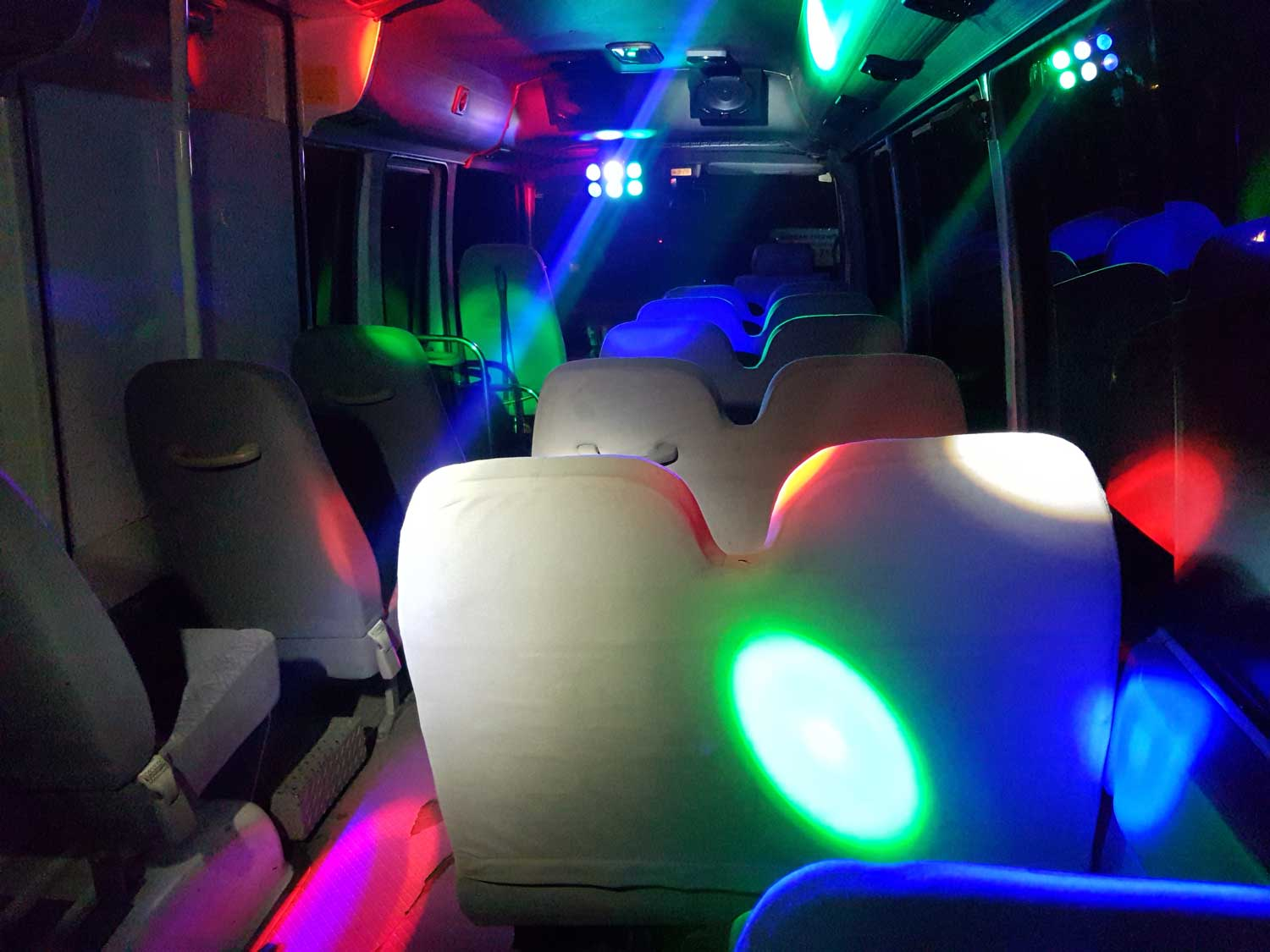 small party bus lights