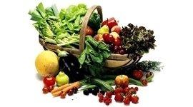 cesta di ortaggi, frutta, ortofrutta