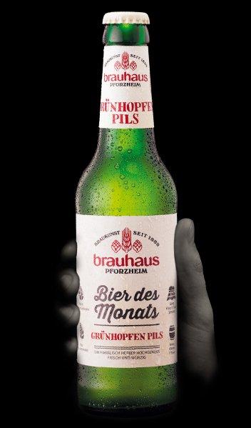 Brauhaus, ber des monats, grunhopfen pils