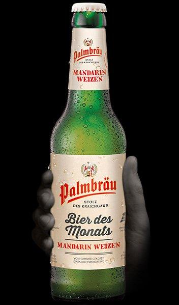 Palmbrau,bier des monats, mandarin weizen